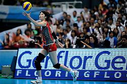 23-08-2009 VOLLEYBAL: WGP FINALS JAPAN - BRAZILIE: TOKYO <br /> Brazilie wint met 3-1 van Japan en zijn de winnaar van de Grand Prix 2009 / Saori KIMURA<br /> ©2009-WWW.FOTOHOOGENDOORN.NL