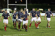 The London Scottish team prepare for another line-out during the Green King IPA Championship match between London Scottish &amp; Worcester at Richmond, Greater London on 20th December 2014<br /> <br /> Photo: Ken Sparks | UK Sports Pics Ltd<br /> London Scottish v Worcester, Green King IPA Championship, 20th December 2014<br /> <br /> &copy; UK Sports Pics Ltd. FA Accredited. Football League Licence No:  FL14/15/P5700.Football Conference Licence No: PCONF 051/14 Tel +44(0)7968 045353. email ken@uksportspics.co.uk, 7 Leslie Park Road, East Croydon, Surrey CR0 6TN. Credit UK Sports Pics Ltd