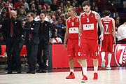 Delusione Armani Milano, AX ARMANI EXCHANGE OLIMPIA MILANO vs STELLA ROSSA MTS BELGRADO, EuroLeague 2017/2018, Mediolanum Forum Assago Milano 29 dicembre 2017 - foto BERTANI/Ciamillo