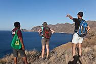 INDONESIA, Sumbawa achipelago; Banta , deserted island, tourists treking