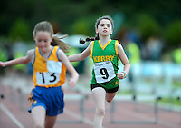 21 Aug 2016: Girls U10 Hurdles final.  2016 Community Games National Festival 2016.  Athlone Institute of Technology, Athlone, Co. Westmeath. Picture: Caroline Quinn