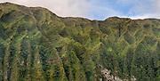 Ko'olau Mountain Range on the island of Oahu