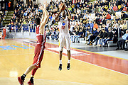 DESCRIZIONE : Roma Lega A 2014-15 Acea Virtus Roma Varese<br /> GIOCATORE : kyle gibson<br /> CATEGORIA : tiro tre punti<br /> SQUADRA : Acea Virtus Roma Varese<br /> EVENTO : Campionato Lega Serie A 2014-2015<br /> GARA : Acea Virtus Roma Varese<br /> DATA : 16.11.2014<br /> SPORT : Pallacanestro <br /> AUTORE : Agenzia Ciamillo-Castoria/M.Greco<br /> Galleria : Lega Basket A 2014-2015 <br /> Fotonotizia : Roma Lega A 2014-15 Acea Virtus Roma Varese