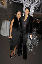 Left to right, LILLIAN VON STAUFFENBERG and KAREN GROOS at the Asprey Winter Wonderland party held at their store, 167 New Bond Street, London on 4th December 2008.