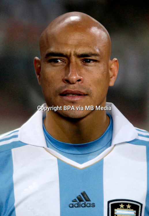 Football Fifa Brazil 2014 World Cup Matchs-Qualifier / South America - Group Matches /<br /> Peru vs Argentina 1-1 ( National Stadium-Lima ,Peru )<br /> Clemente RODRIGUEZ of Argentina , During the match between Peru and Argentina