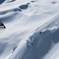 Jones Snowboards global catalogue cover. Shot during Deeper trip to Tantalus Glacier, BC.