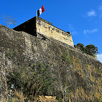 Fort Saint Louis in Fort-de-France, Martinique<br /> The first governor of Martinique ordered the building of a fortress in 1638 to protect the island.  It was rebuilt in 1669 and then suffered numerous attacks by the Dutch and British for nearly 150 years. During its history, it has been called Fort Edward, Fort Royal and Fort de la Republique. Today, Fort Saint Louis is an active base for the French National Navy although portions of the historic fort can be toured.