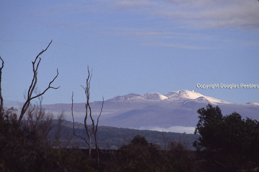 Snowcapped Mauna Kea, Island of Hawaii<br />