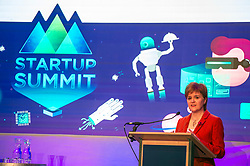Pictured: Nicola Sturgeon<br /> <br /> Today in Edinburgh, First Minister Nicola Sturgeon MSP delivered a speech to the Start-Up Summit, an annual event focused on helping new businesses grow. Ms Sturgeon took the opportunity to meet groups of new entrepreneurs and toured the exhibition stands.<br /> <br /> <br /> Ger Harley | EEm 1 November 2017