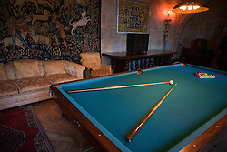 Billards Room, Casa Grande, Hearst Castle, San Simeon, California, United States of America