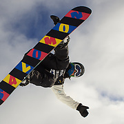 Kwang-Ki Lee, Korea, in action during the Men's Half Pipe Qualification in the LG Snowboard FIS World Cup, during the Winter Games at Cardrona, Wanaka, New Zealand, 27th August 2011. Photo Tim Clayton..