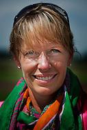 ERP - Portret van Anky Van Grunsven met haar paard in de wei . ROBIN UTRECHT