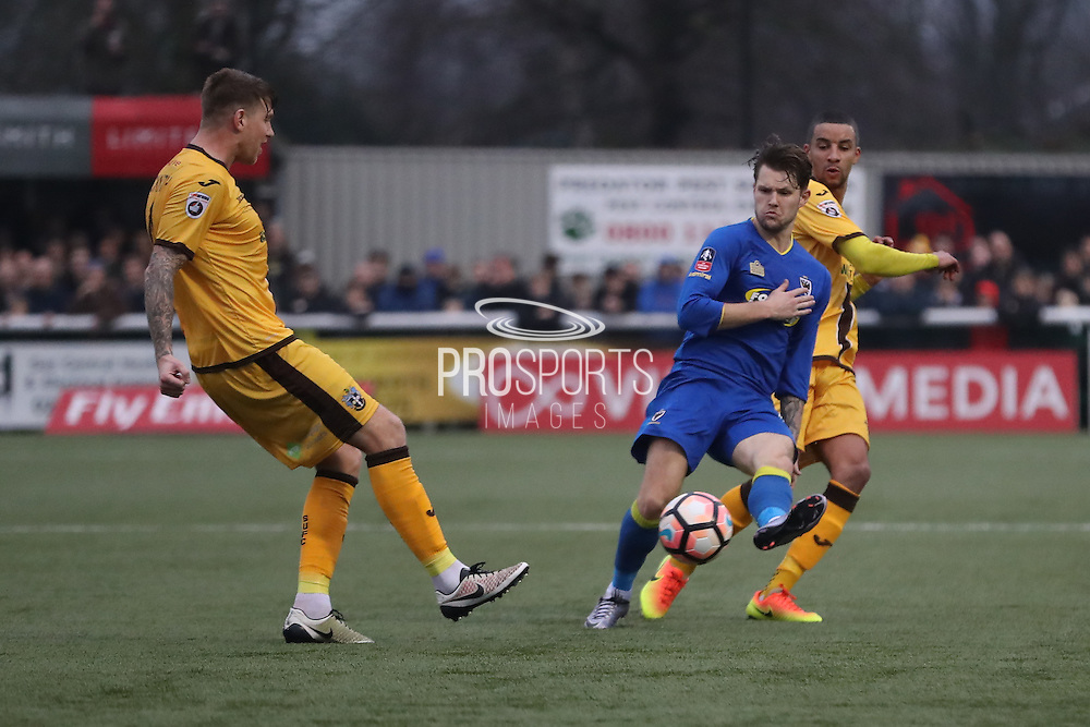 AFC Wimbledon midfielder Jake Reeves (8) during The FA Cup match between Sutton United and AFC Wimbledon at Gander Green Lane, Sutton, United Kingdom on 7 January 2017. Photo by Stuart Butcher.