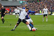 Everton midfielder Aaron Lennon attacks the box during the The FA Cup fourth round match between Carlisle United and Everton at Brunton Park, Carlisle, England on 31 January 2016. Photo by Craig McAllister.