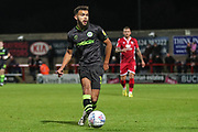 Forest Green Rovers Dominic Bernard(3) passes the ball forward during the EFL Sky Bet League 2 match between Morecambe and Forest Green Rovers at the Globe Arena, Morecambe, England on 22 October 2019.