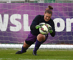 Bristol Academy's Mary Earps warms up before the FA Women's Super League game between Bristol Academy Women and Notts County Ladies FC on 25 April 2015 in Bristol, England - Photo mandatory by-line: Paul Knight/JMP - Mobile: 07966 386802 - 25/04/2015 - SPORT - Football - Bristol - Stoke Gifford Stadium - Bristol Academy Women v Notts County Ladies FC - FA Women's Super League
