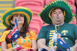 June 16, 2018 - Kazan, U.S. - KAZAN, RUSSIA - JUNE 16: Fans of Australia during a Group C 2018 FIFA World Cup soccer match between France and Australia on June 16, 2018, at the Kazan Arena in Kazan, Russia. (Photo by Anatoliy Medved/Icon Sportswire) (Credit Image: © Anatoliy Medved/Icon SMI via ZUMA Press)