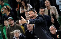 Jurica Golemac, head coach of Olimpija reacts during basketball match between KK Cedevita Olimpija and KK Zadar in Round #19 of ABA League 2019/20, on February 8, 2020 in Arena Stozice, Ljubljana, Slovenia. Photo by Vid Ponikvar / Sportida