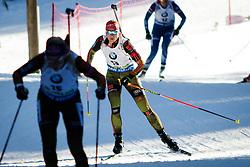 Vanessa Hinz (GER) competes during Women 10 km Pursuit at day 3 of IBU Biathlon World Cup 2015/16 Pokljuka, on December 19, 2015 in Rudno polje, Pokljuka, Slovenia. Photo by Ziga Zupan / Sportida