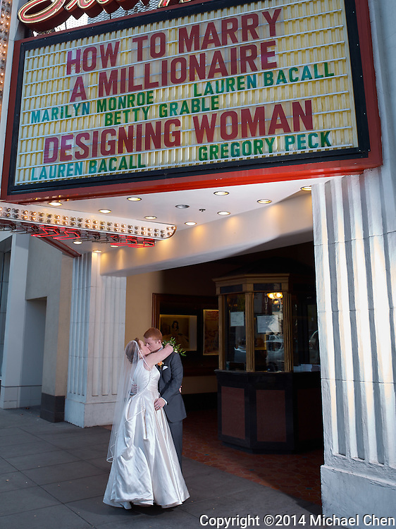 2014/11/01 -- Alex & Matthew Wedding -- Stanford Theatre in Palo Alto, Calif., on Nov. 1, 2014<br /> <br /> Photo by Michael Chen
