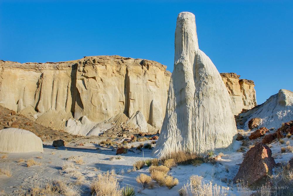 Ghostlike sandstone formation Wahweap Hoodoos, Grand Staircase Escalante National Monument Utah