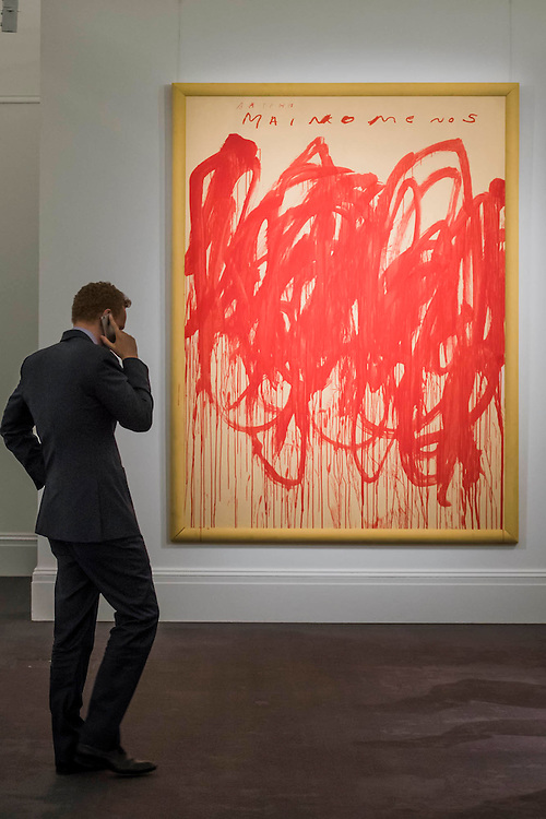 CY TWOMBLY Untitled (Bacchus 1st Version V), 2004, Estimate Upon Request - Sotheby's previews New York sales of Impressionist, Modern and Contemporary Art.   London Exhibition Dates 9- 13 April 2016, New York Sale Dates Impressionist & Modern Art Evening Sale: 9 May 2016 and Contemporary Art Evening Auction: 11 May 2016