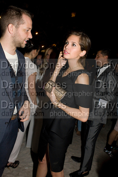 DEREK BLASBERG; DASHA ZHUKOVA, The Launch of Visionaire 55 Surprise in collaboration with Krug. Raleigh Hotel. Art Basel Miami Beach. 4 December 2008 *** Local Caption *** -DO NOT ARCHIVE -Copyright Photograph by Dafydd Jones. 248 Clapham Rd. London SW9 0PZ. Tel 0207 820 0771. www.dafjones.com