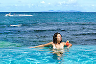 Elene in the pool - Oyster Bay Beach Resort