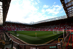 A general view of Old Trafford, home to Manchester United - Mandatory by-line: Robbie Stephenson/JMP - 13/03/2018 - FOOTBALL - Old Trafford - Manchester, England - Manchester United v Sevilla - UEFA Champions League Round of 16 2nd Leg