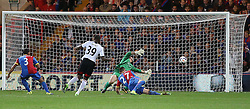 Fulham's Darren Bent comes close to a goal but shoots wide - Photo mandatory by-line: Robin White/JMP - Tel: Mobile: 07966 386802 21/10/2013 - SPORT - FOOTBALL - Selhurst Park - London - Crystal Palace V Fulham - Barclays Premier League