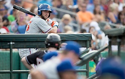 July 7, 2017 - Jupiter, Florida, U.S. - St. Lucie Mets Tim Tebow warms up on deck in the second inning at Roger Dean Stadium in Jupiter, Florida on July 7, 2017. (Credit Image: © Allen Eyestone/The Palm Beach Post via ZUMA Wire)