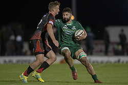 November 3, 2018 - Galway, Ireland - Colby Fainga'a of Connacht pictured with the ball during the Guinness PRO14 match between Connacht Rugby and Dragons at the Sportsground in Galway, Ireland on November 3, 2018  (Credit Image: © Andrew Surma/NurPhoto via ZUMA Press)
