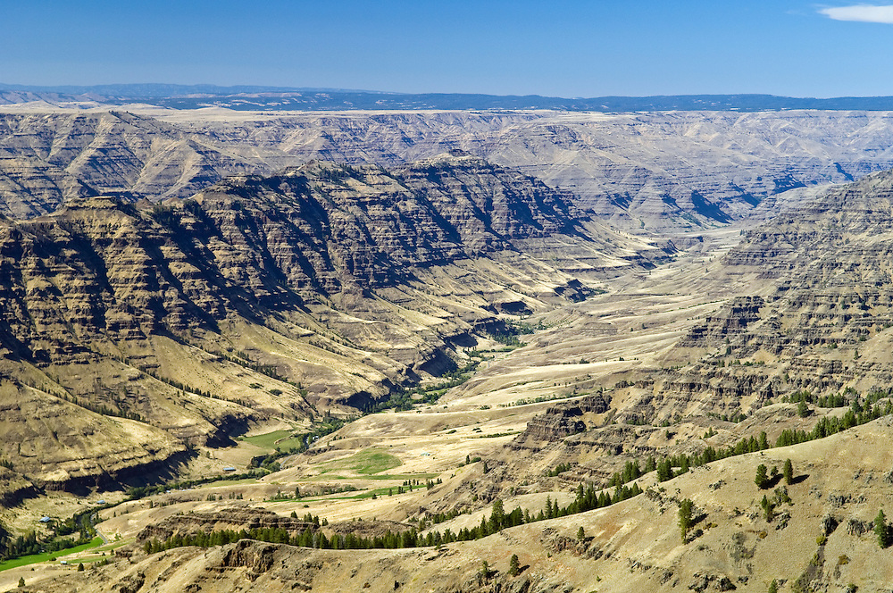 Imnaha River Canyon from Granny Viewpoint, Hells Canyon National Recreation Area, northeast Oregon.