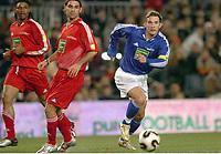 Fotball<br /> Veldedighetskamp for ofrene etter tsunamien i Asia<br /> Football for hope<br /> 15. februar 2005<br /> Nou Camp - Barcelona<br /> Foto: Digitalsport<br /> NORWAY ONLY<br /> ANDREI CHEVCHENKO (CHE) / RAFAEL MARQUEZ (RON)