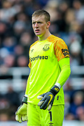 Jordan Pickford (#1) of Everton during the Premier League match between Newcastle United and Everton at St. James's Park, Newcastle, England on 9 March 2019.