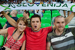 Fans before the opening friendly football match at a new stadium in Stozice between National teams of Slovenia and Australia on August 11, 2010 in Ljubljana. Slovenia defeated Australia 2-0. (Photo by Vid Ponikvar / Sportida)
