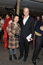 HANS-ULRICH OBRIST and JEONG-A KOO at the Contemporary Art Society's Gala evening held at the Farmiloe Buildings, St.John Street, London EC1 on 29th February 2012.