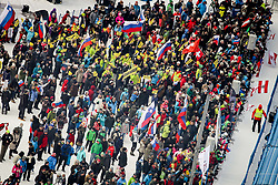 Fans during 2nd run of Men's Slalom race of FIS Alpine Ski World Cup 57th Vitranc Cup 2018, on March 4, 2018 in Podkoren, Kranjska Gora, Slovenia. Photo by Ziga Zupan / Sportida