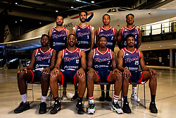 Bristol Flyers team picture at Areospace- Mandatory by-line: Robbie Stephenson/JMP - 18/09/2019 - BASKETBALL - Areospace - Bristol, England - Bristol Flyers Sponsor Meets