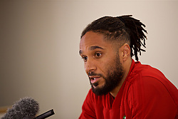 CARDIFF, WALES - Thursday, November 15, 2018: Wales' captain Ashley Williams during a press conference at the Cardiff City Stadium ahead of the UEFA Nations League Group Stage League B Group 4 match between Wales and Denmark. (Pic by David Rawcliffe/Propaganda)