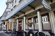 DOYLESTOWN, PA - MARCH 21:  The exterior of the Doylestown Inn is seen as work continues at The Hattery Stove & Still March 21, 2014 in Doylestown, Pennsylvania. The Hattery Stove & Still is the former Doylestown Inn. (Photo by William Thomas Cain/Cain Images)