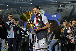 May 19, 2019 - Turin, Turin, Italy - Emre Can of Juventus FC lifts the trophy of Scudetto  2018-2019 at Allianz Stadium, Turin (Credit Image: © Antonio Polia/Pacific Press via ZUMA Wire)