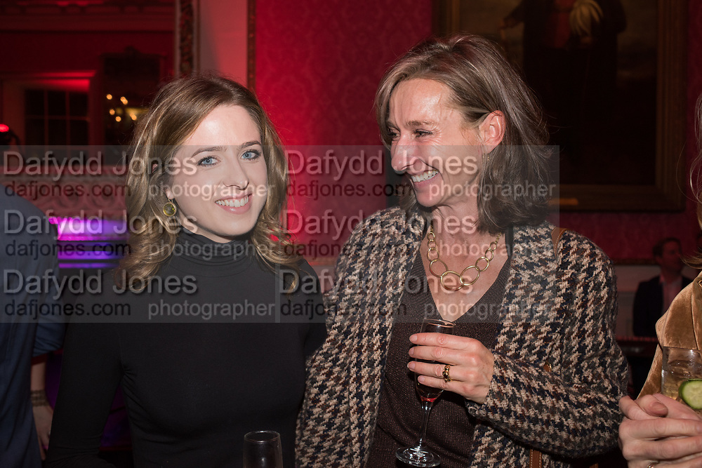CONSTANCE WATSON, DAISY WAUGH, Literary Review  40th anniversary party and Bad Sex Awards,  In & Out Club, 4 St James's Square. London. 2 December 2019