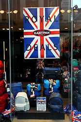 22 April 2011. London, England..Royal wedding inspired window displays on Carnaby Street in the heart of London's West End..Photo; Charlie Varley.