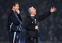 Photo: Ashley Pickering.<br /> Ipswich Town v Wolverhampton Wanderers. Coca Cola Championship. 20/02/2007.<br /> Ipswich manager Jim Magilton (L) looks dejected as Wolves manager Mick McCarthy shouts his orders