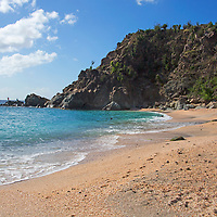 France, St. Barts, Gustavia. Shell Beach, or Anse De Grand Galet.