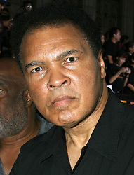 June 3, 2016 - File - Muhammad Ali, the three time heavyweight boxing champion, has died at the age of 74. He had been fighting a respiratory illness. Pictured: Aug 02, 2004; Los Angeles, CA, USA; Former Boxer MUHAMMAD ALI at the 'Collateral' Los Angeles Premiere held at the Orpheum Theatre. (Credit Image: Rena Durham/ZUMAPRESS.com)