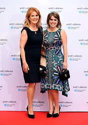 Sarah Ferguson, Duchess of York and Princess Eugenie of York (right) attending the End the Silence Charity Fundraiser at Abbey Road Studios, London.