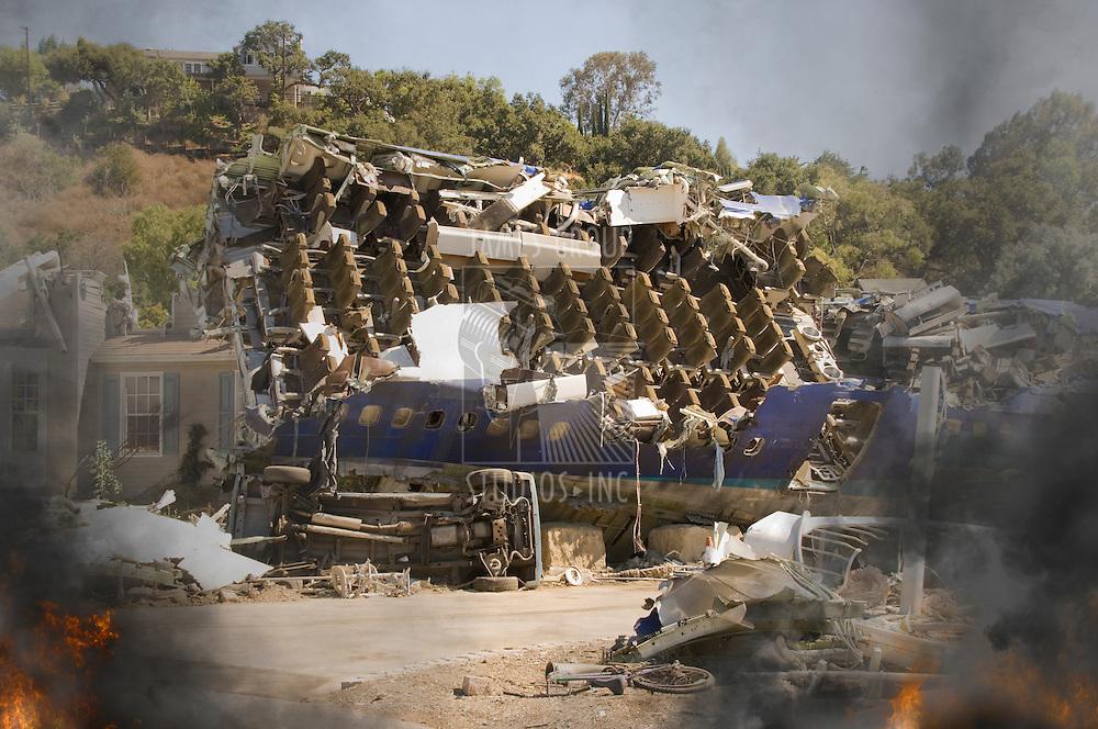 Crash site of a commercial jet