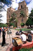 ECUADOR, CUENCA Cathedral and photographer